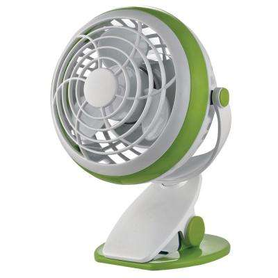 4 in. Personal Clip Fan in Green