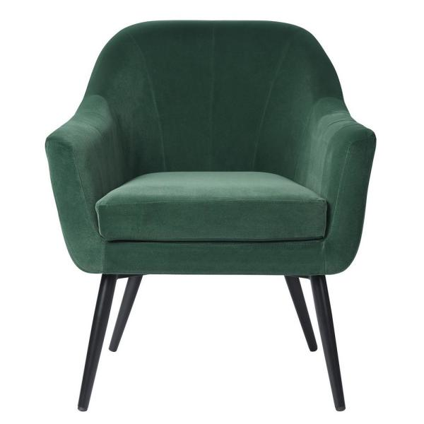 Engle Green Velvet Cover Leisure Arm Chair with Cushion