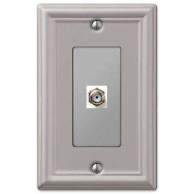Chelsea 1 Coaxial Wall Plate - Brushed Nickel