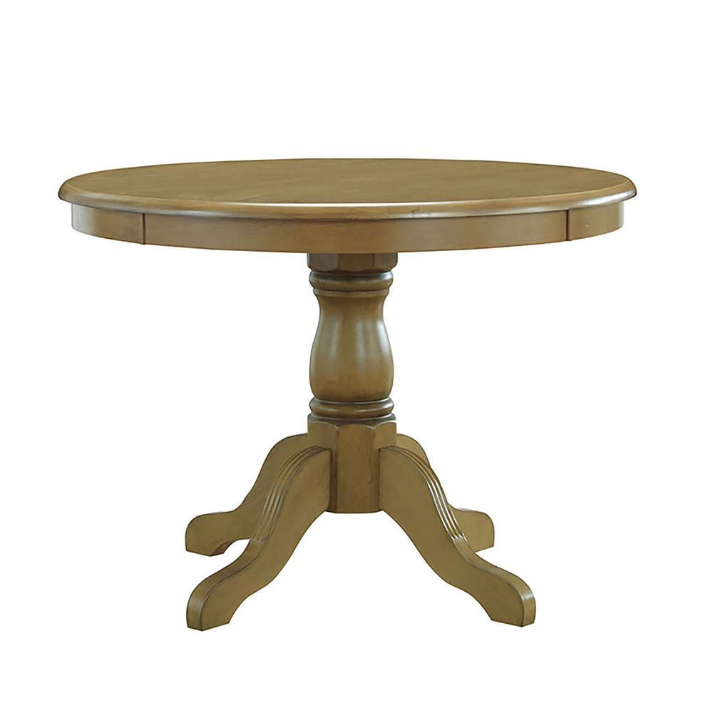 Carolina Clics Winslow Harvest Oak Pedestal Dining Table