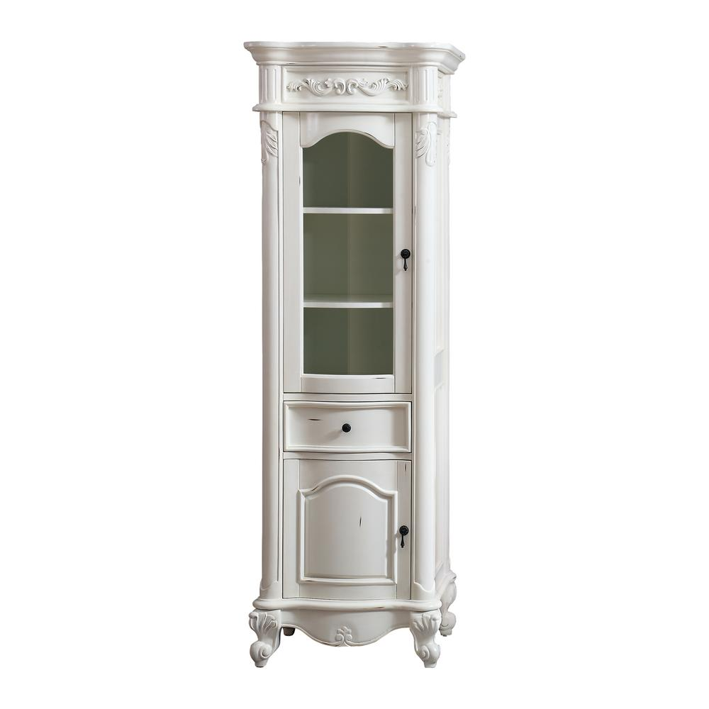 Avanity Provence 24 in. W x 19.2 in. D x 72 in. H Floor Cabinet in. Antique White Finish