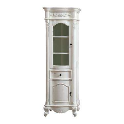 Provence 24 in. W x 19.2 in. D x 72 in. H Floor Cabinet in. Antique White Finish