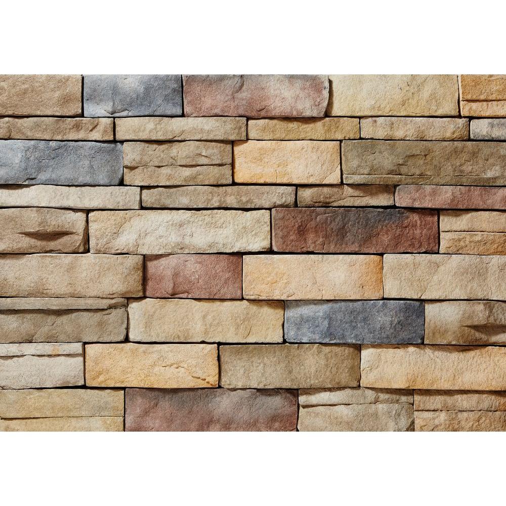 Ledgestone Poinset Flats 26-3/4 in. x 16 in. 8 sq. ft. Manufactured Stone (25-Piece per Carton)