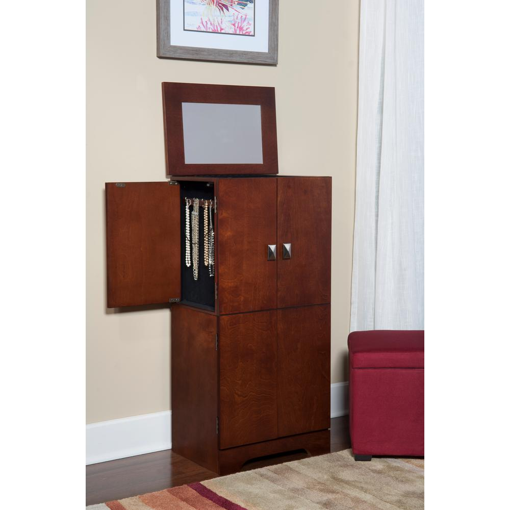 Home Decorators Collection Victoria Free Standing Jewelry Armoire In Espresso 55235esp 01 Kd U