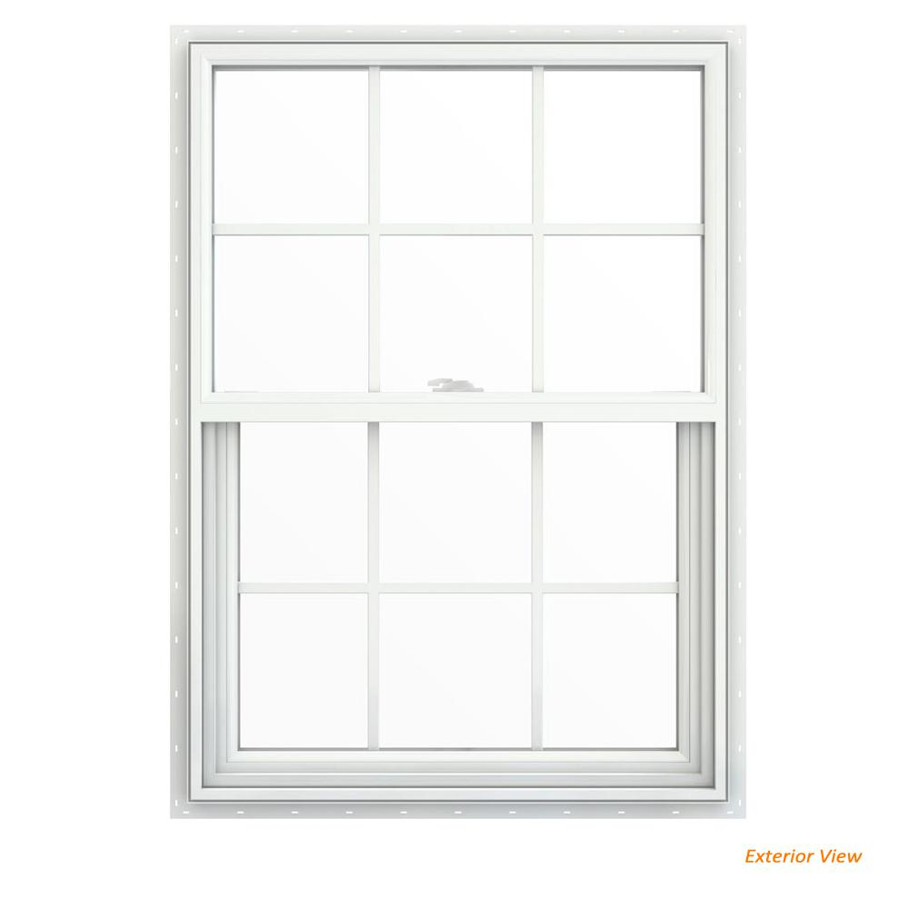 29.5 in. x 41.5 in. V-2500 Series White Vinyl Single Hung