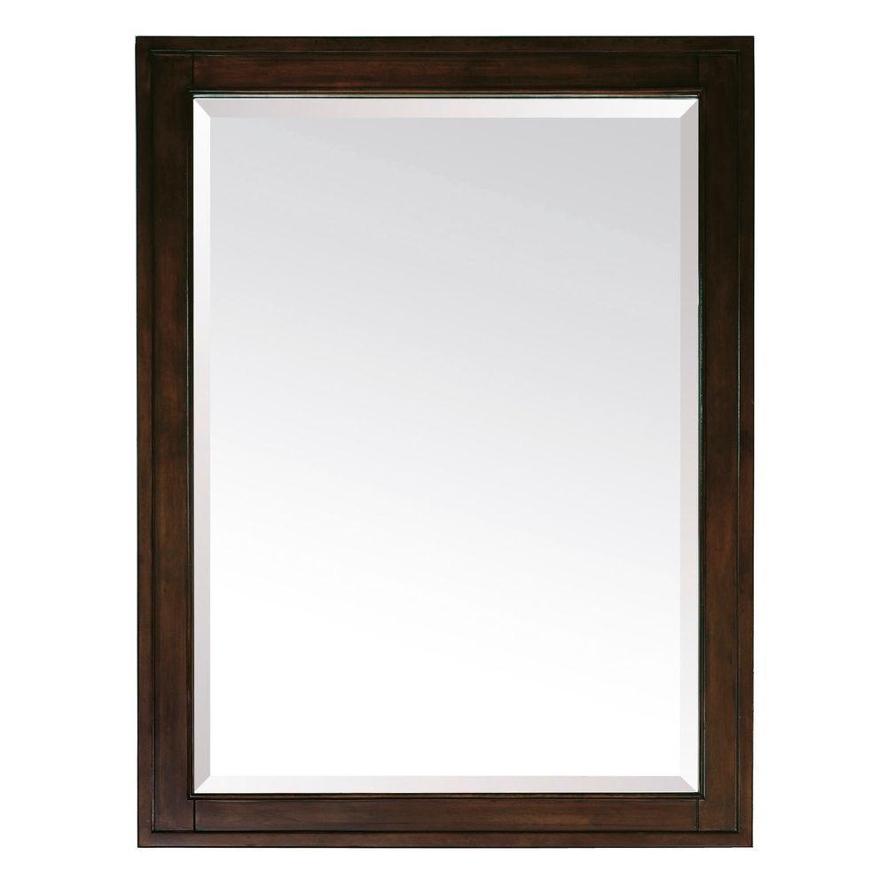 Madison 32 in. L x 24 in. W Framed Mirror in Light Espresso