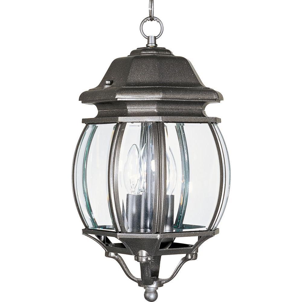 Crown Hill 3-Light Rust Patina Outdoor Hanging Lantern