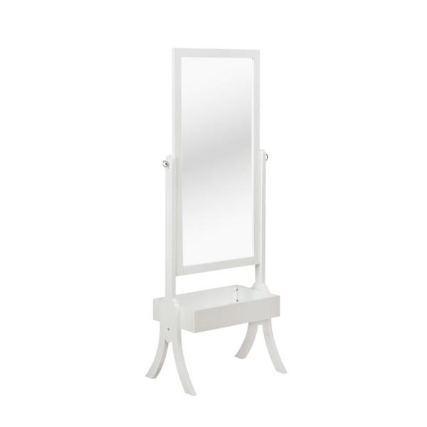 Foxcroft White Cheval Mirror Jewelry Armoires