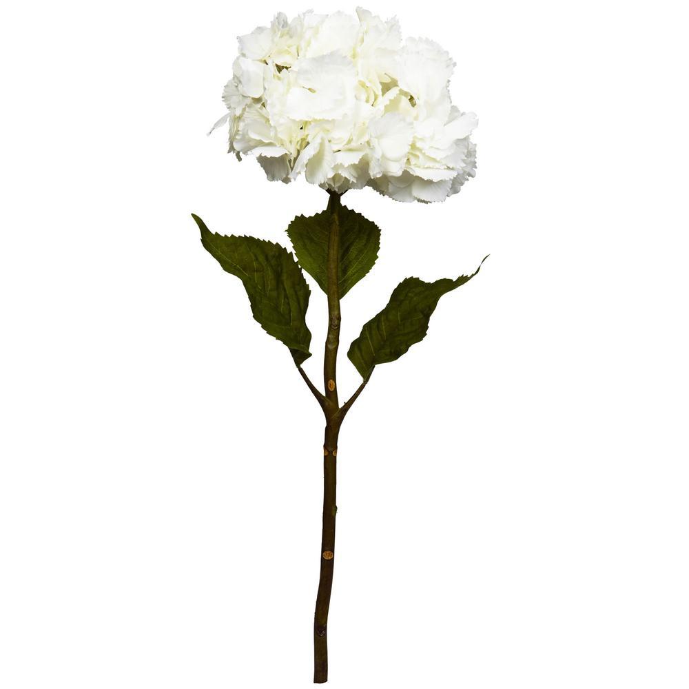 Indoor 28 in. Hydrangea Artificial Flower (Set of 3)