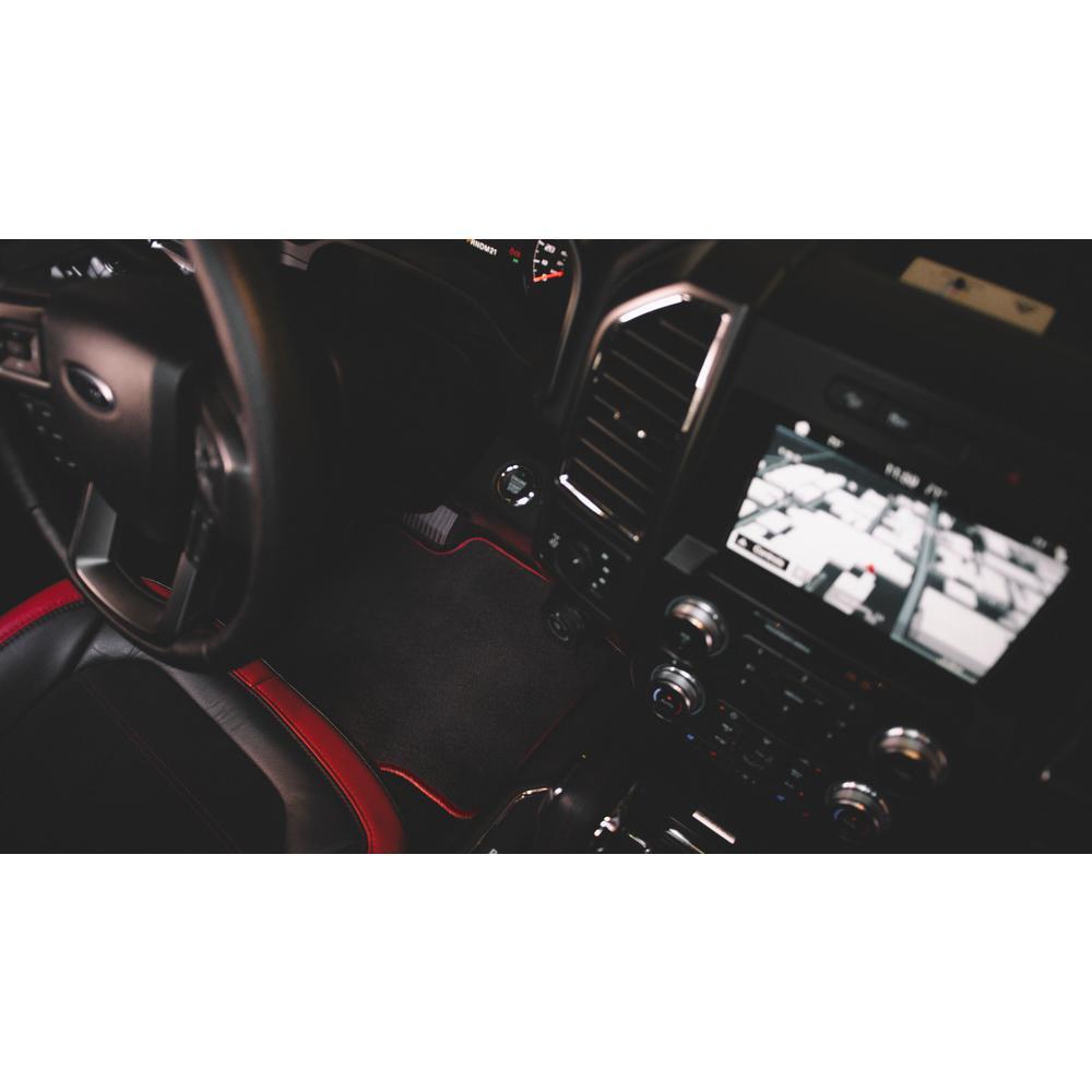 Nylon Carpet CFMCX1JP9310 Black Coverking Custom Fit Rear Floor Mats for Select Jeep Grand Cherokee Models