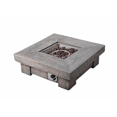 35 in. Outdoor Square Light Weight Ceramic Propane Gas Fire Pit