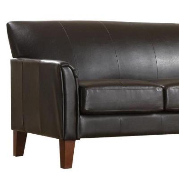 Amazing Homesullivan Dark Brown Vinyl Microfiber Sofa 409913Pu 3Tl Uwap Interior Chair Design Uwaporg