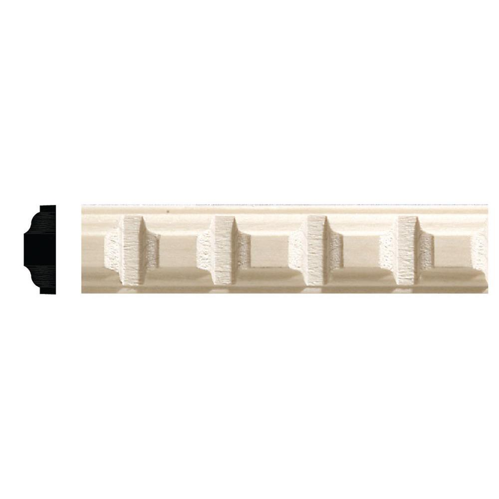Ornamental Mouldings 5/16 in. x 7/8 in. x 96 in. White Hardwood Dentil Moulding