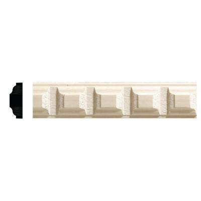 5/16 in. x 7/8 in. x 96 in. White Hardwood Dentil Moulding