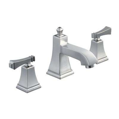 Exhibit 2-Handle Low-Arc Deck-Mount Roman Tub Faucet in Brushed Nickel
