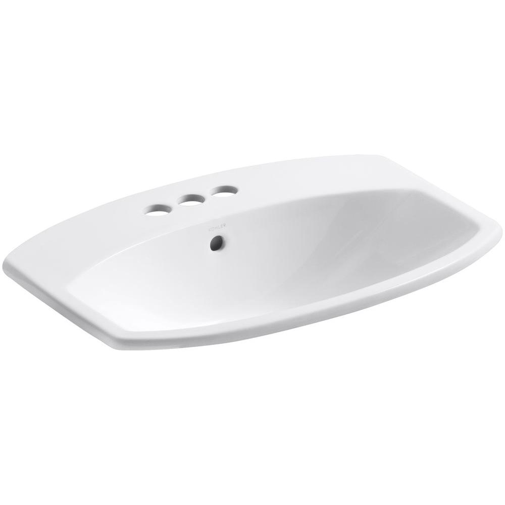 KOHLER Cimarron Drop-In Vitreous China Bathroom Sink in White