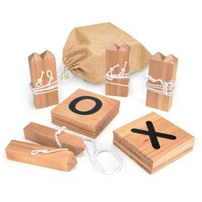 Giant Wooden Tic Tac Toe Backyard Game