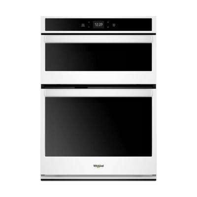 30 in. Smart Electric Wall Oven with Built-In Microwave in White with Touchscreen