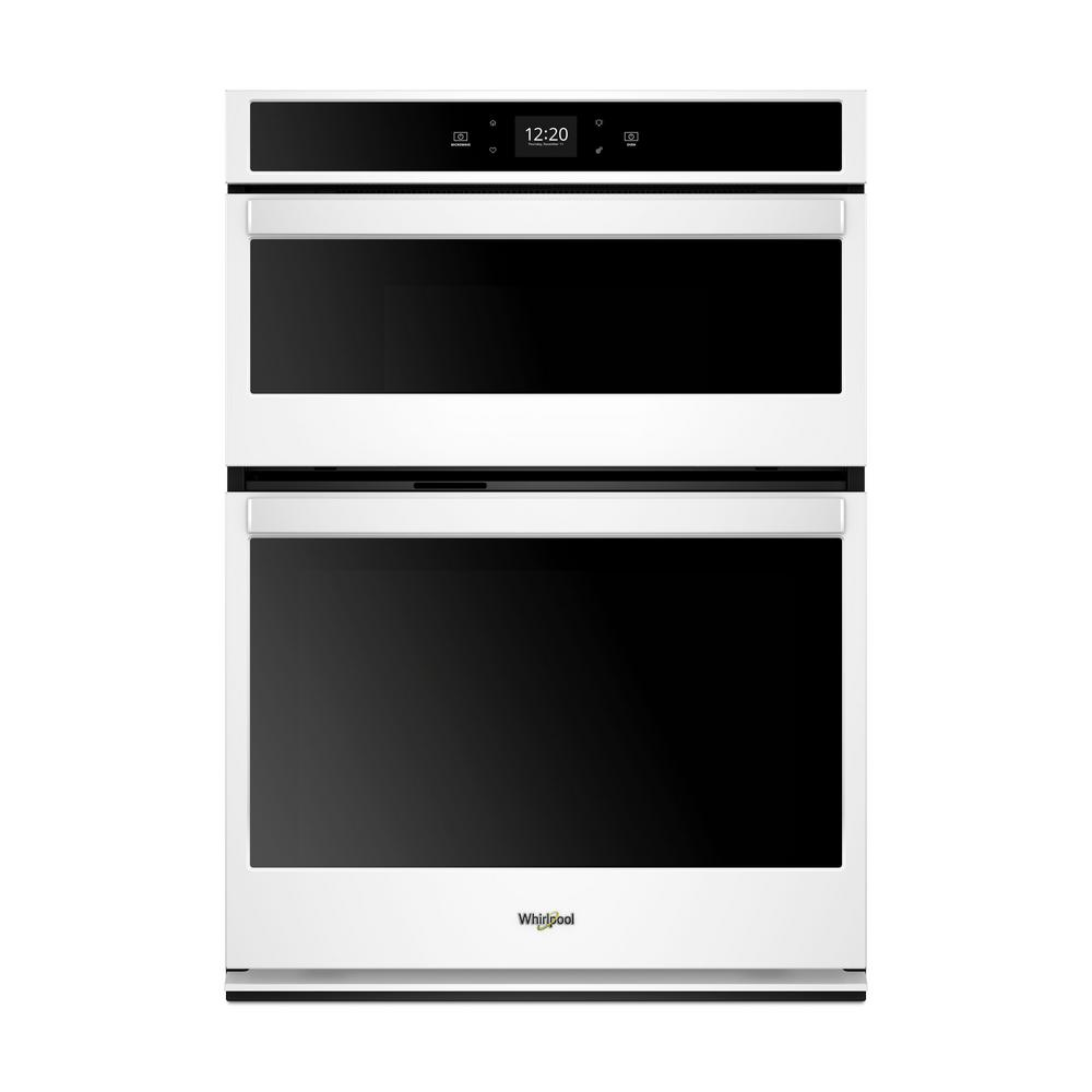 Whirlpool 30 In Electric Smart Wall Oven With Built Microwave And Touchscreen White