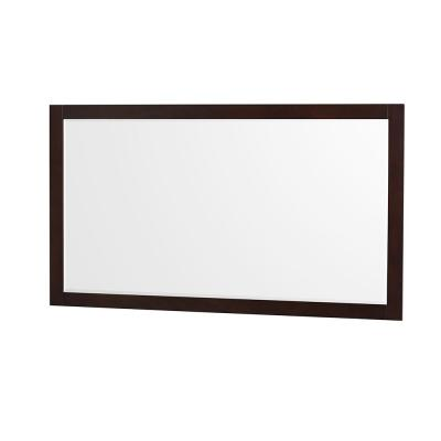 Sheffield 58 in. W x 33 in. H Framed Rectangular Bathroom Vanity Mirror in Espresso