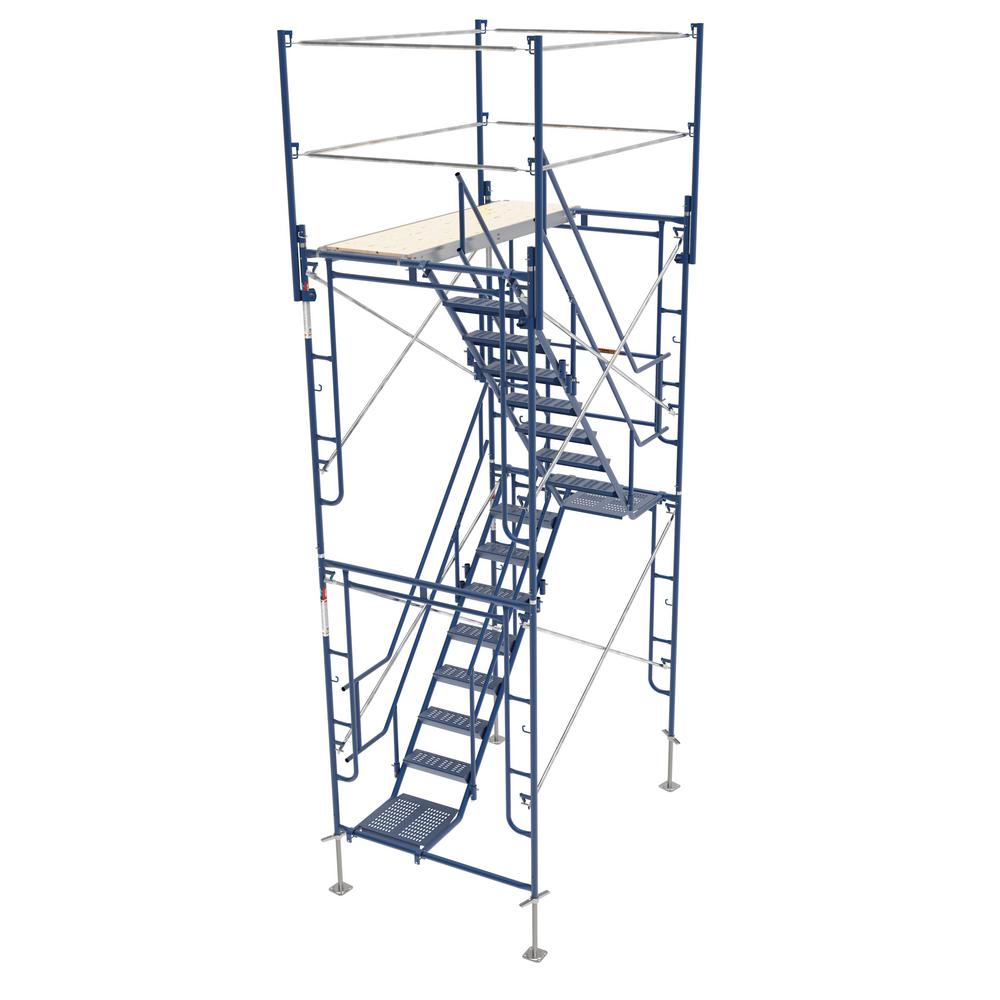Metaltech 5 Ft X 7 Ft X 13 Ft Scaffolding Tower With 76