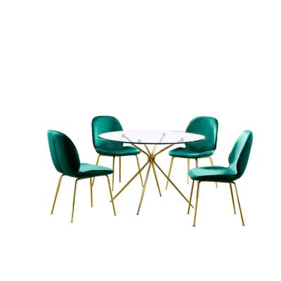 Preston 5 Pcs Dinette Set, Green