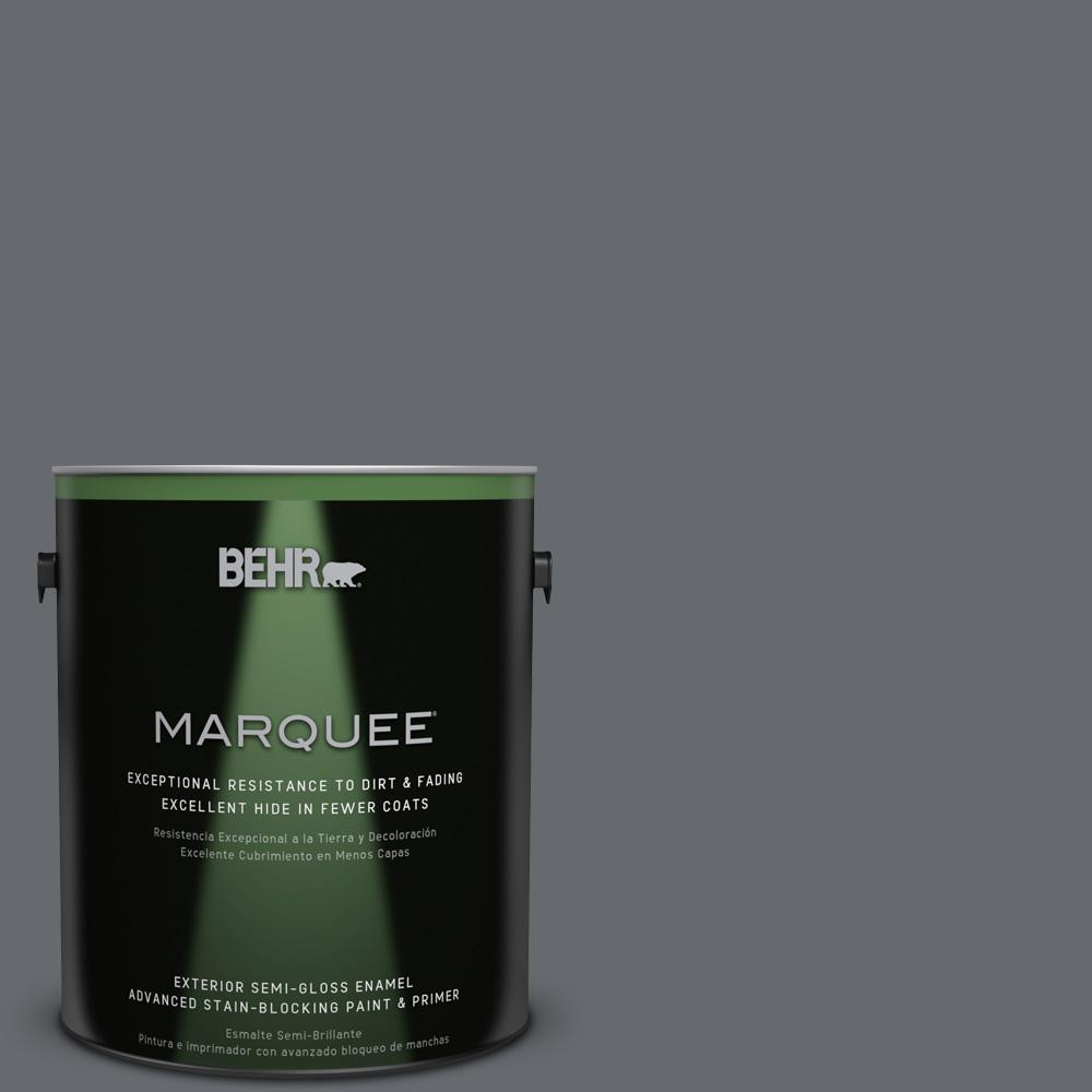 1 gal. #HDC-CL-04G Liberty Bell Gray Semi-Gloss Enamel Exterior Paint