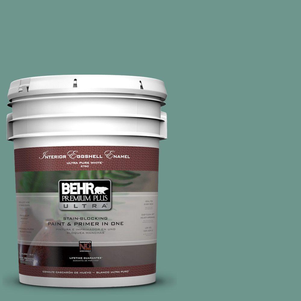BEHR Premium Plus Ultra 5-gal. #M440-5 Lunar Tide Eggshell Enamel Interior Paint