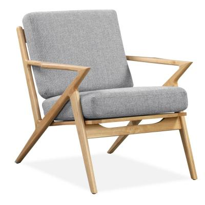 Skane Light Grey Natural Lounge Chair