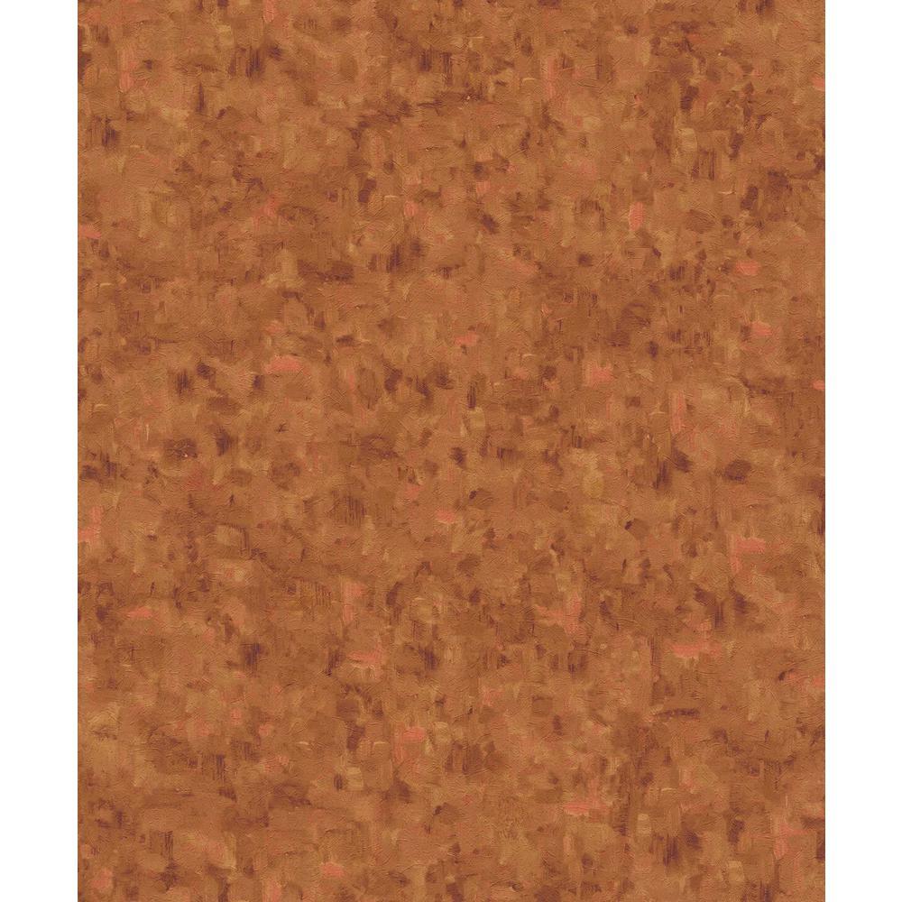 Burnt Caramel & Orange Multi Color Textured Paint Wallpaper