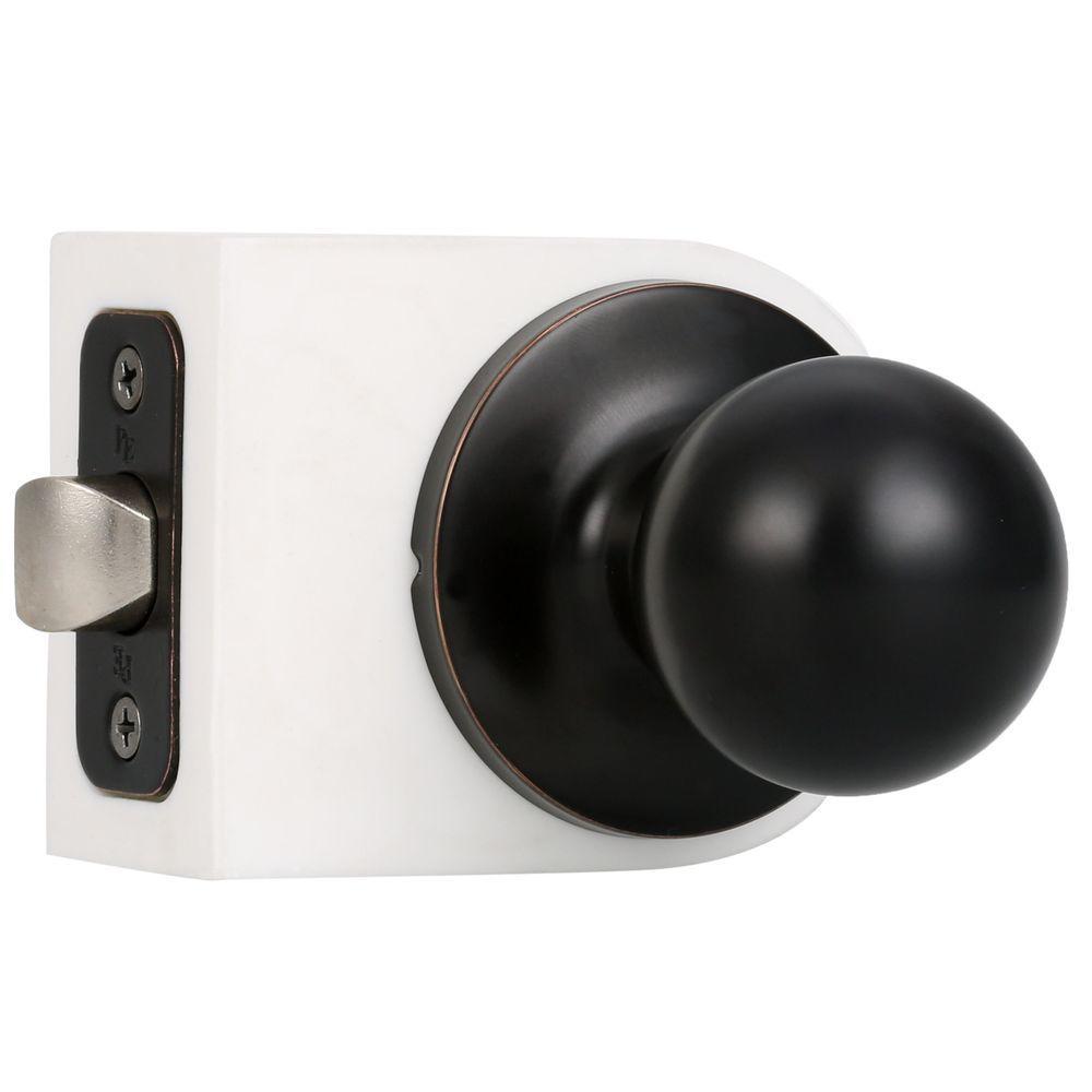 Weslock Premiere Essentials Passage Hall/Closet Hudson Oil Rubbed Bronze  Door Knob