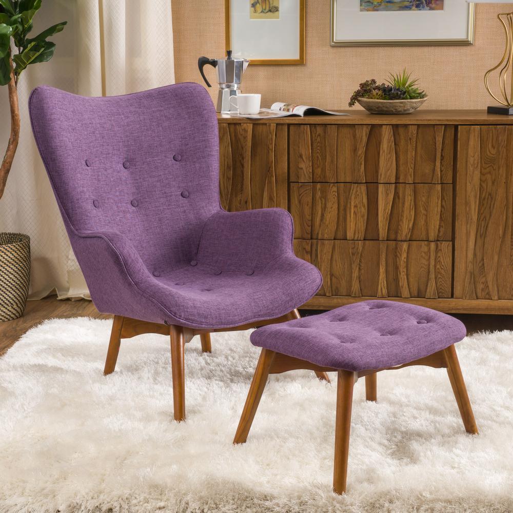Hariata Muted Purple Contour Chair Set