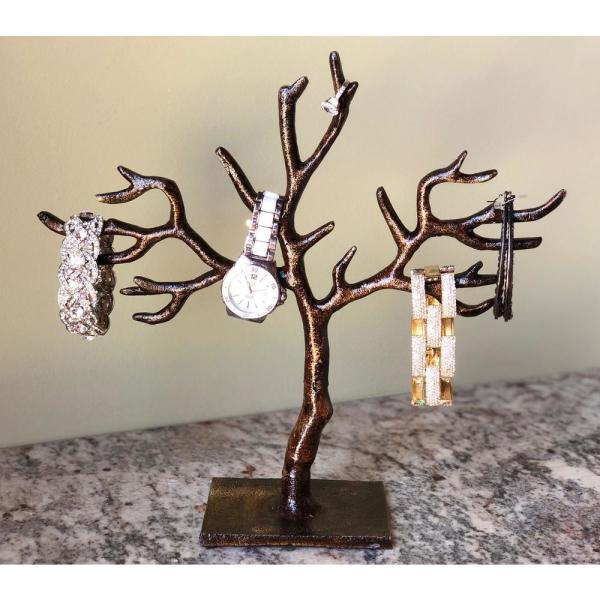 Kindwer 11 In 20 Branch Patina Tree Of Life Jewelry Holder A044 The Home Depot
