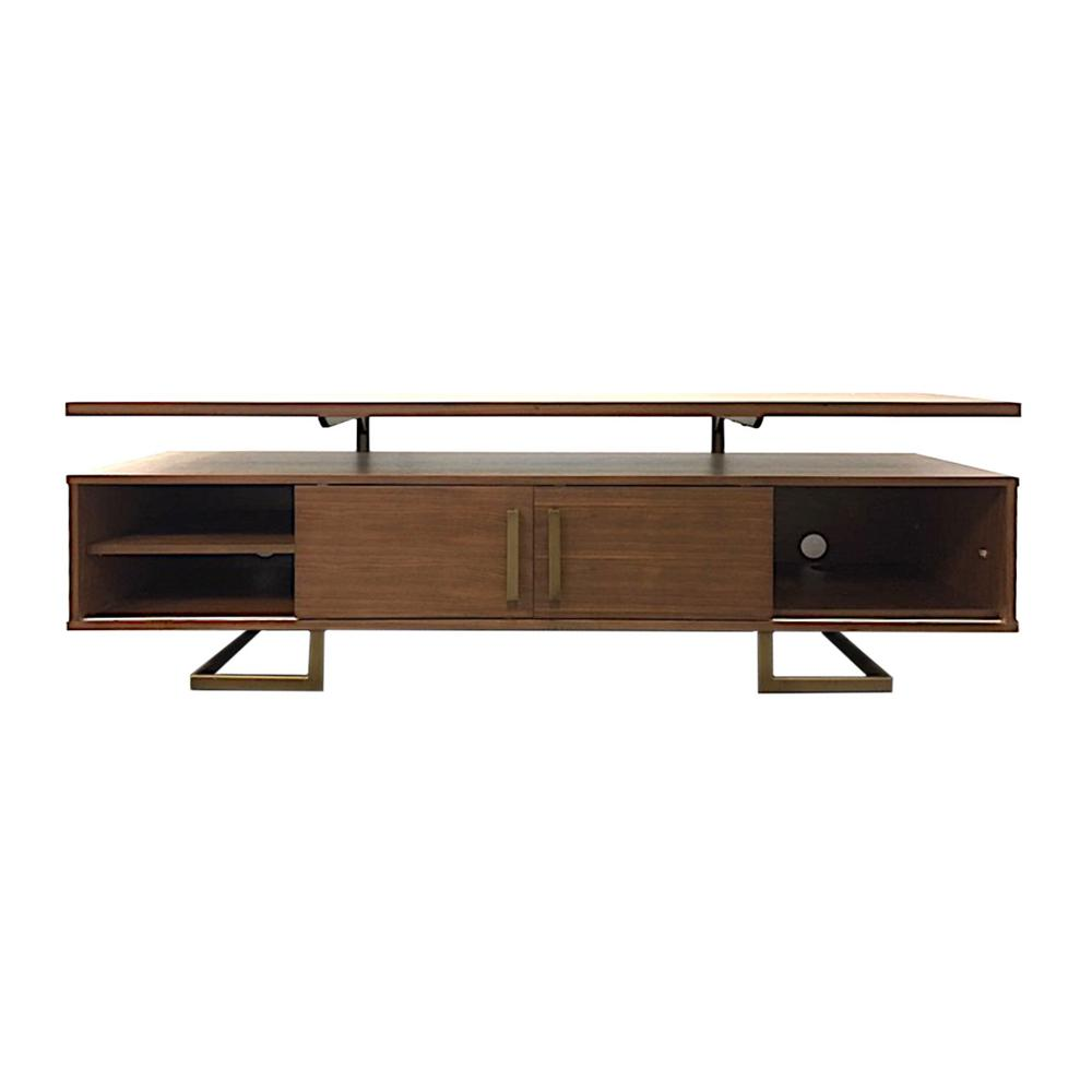 29740cfda149 Yosemite Home Decor Jordan Media Medium Walnut Console Table-220001 ...