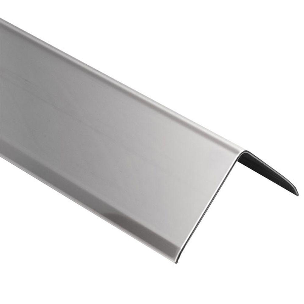 ECK-K Stainless Steel 9/16 in. x 8 ft. 2-1/2 in. Metal Corner Tile Edging Trim