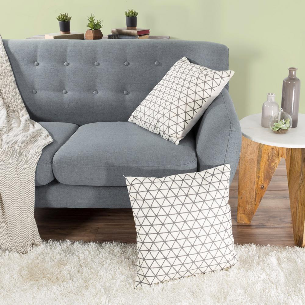 Lavish Home Modern Triangle Taupe Decorative Pillow-66-10-IBR - The Home Depot