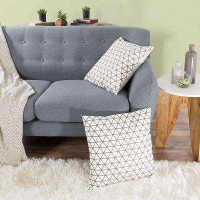 Modern Triangle Taupe Decorative Pillow