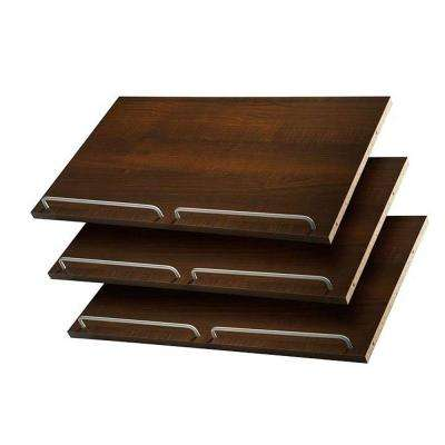 24 in. Espresso Shoe Shelves (3 Pack)