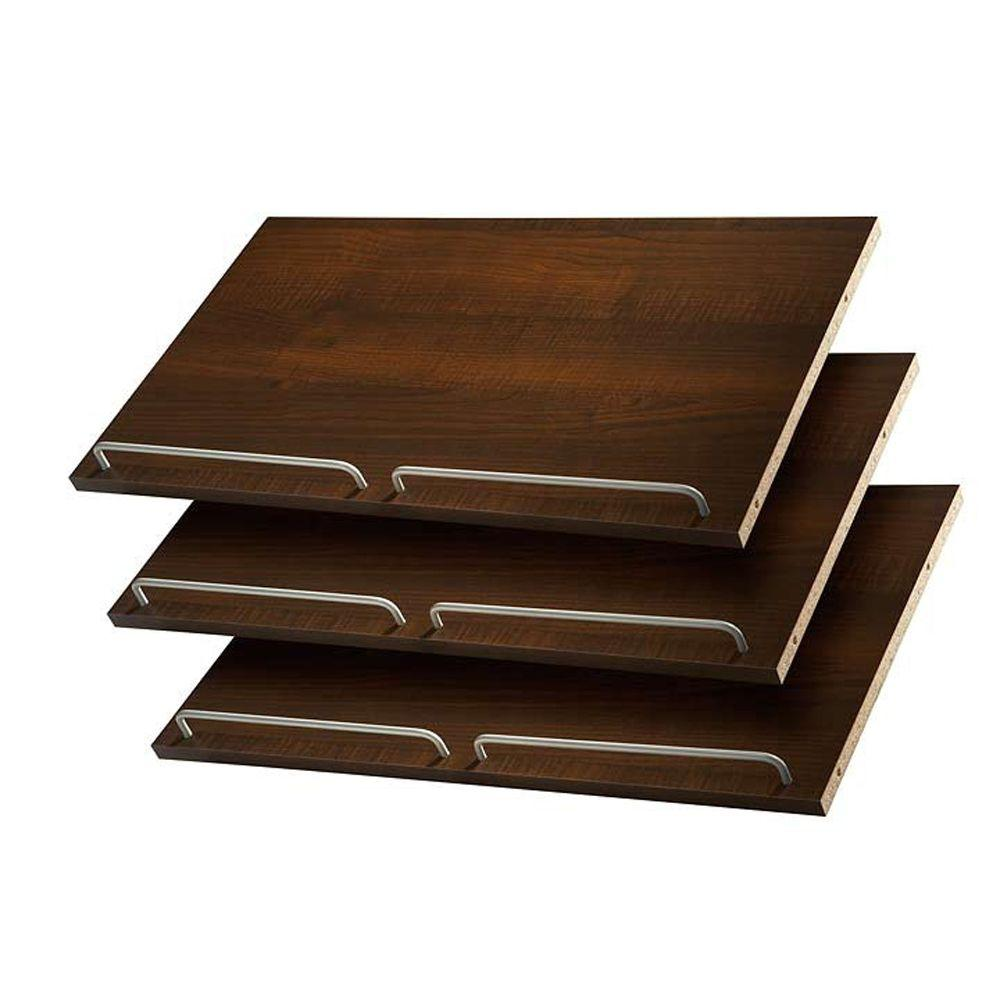 Martha Stewart Living 24 in. Espresso Shoe Shelves (3 Pack)