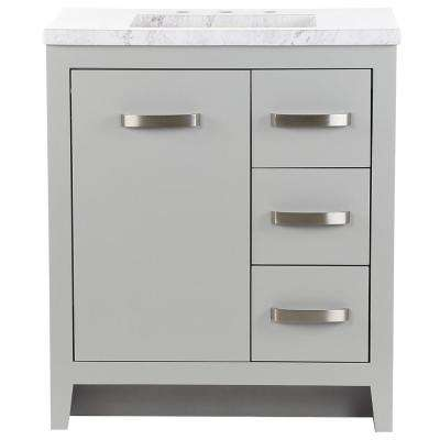 Blakely 31 in. W x 19 in. D Bath Vanity in Sterling Gray with Stone Effects Vanity Top in Lunar with White Sink