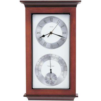 17.25 in. H x 10.75 in. W Weather Wall Clock
