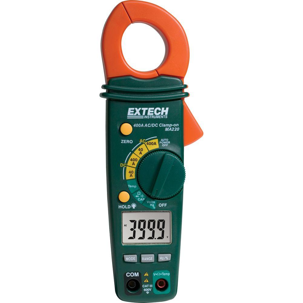 Ac Dc Clamp Meter : Extech instruments amp ac dc clamp meter ma the