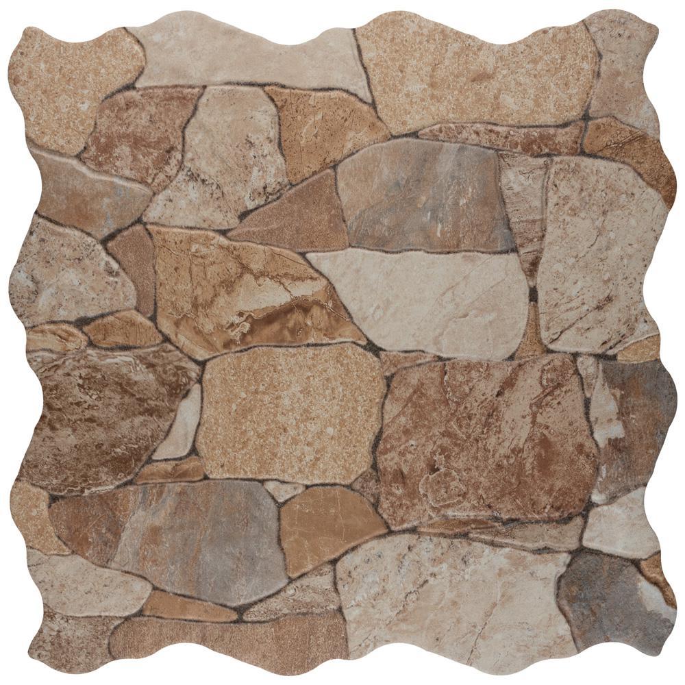 Attica Beige 16-7/8 in. x 16-7/8 in. Ceramic Floor and Wall Tile (14.15 sq. ft. / case)