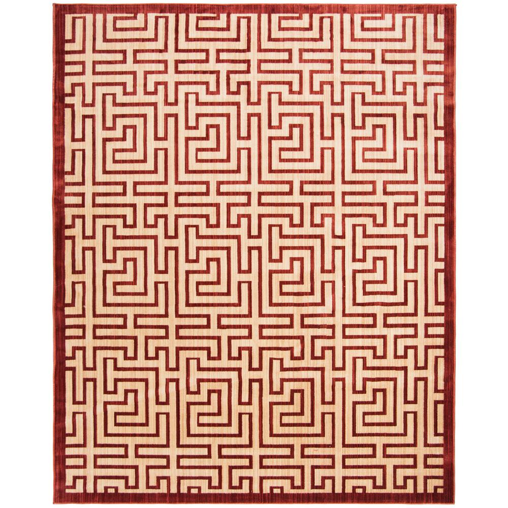 Safavieh Infinity Yellow Red 8 Ft X 10 Ft Area Rug Inf587p 8 The