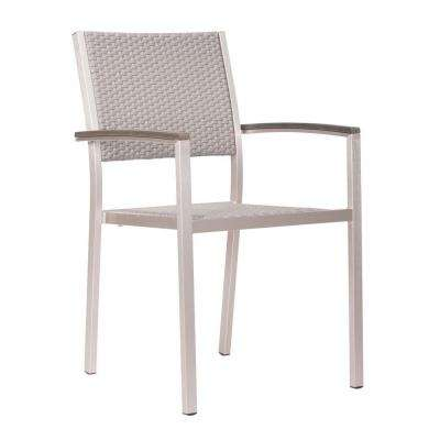 Metropolitan Brushed Aluminum Patio Armchair