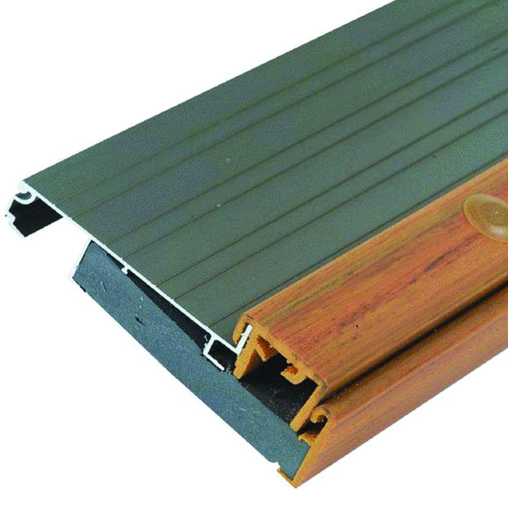 Adjustable Height 4-1/2 in. x 61-1/2 in. Aluminum Threshold