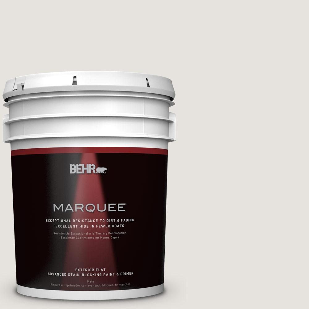 BEHR 5-gal. #PPU18-8 Painter's White Flat Exterior Paint