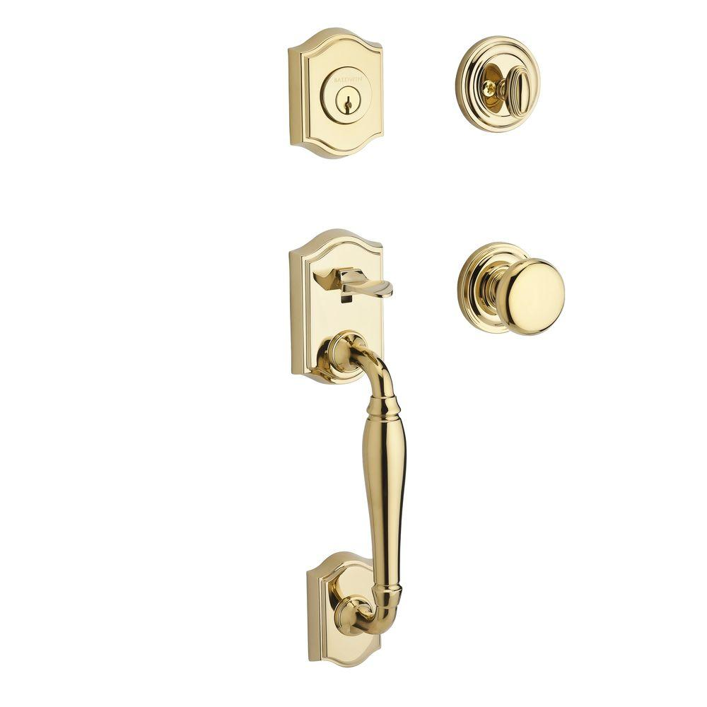 Reserve Westcliff Single Cylinder Lifetime Polished Brass Handleset with Round