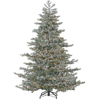 7.5 ft. Oregon Fir Artificial Christmas Tree with Multi-Color LED String Lighting