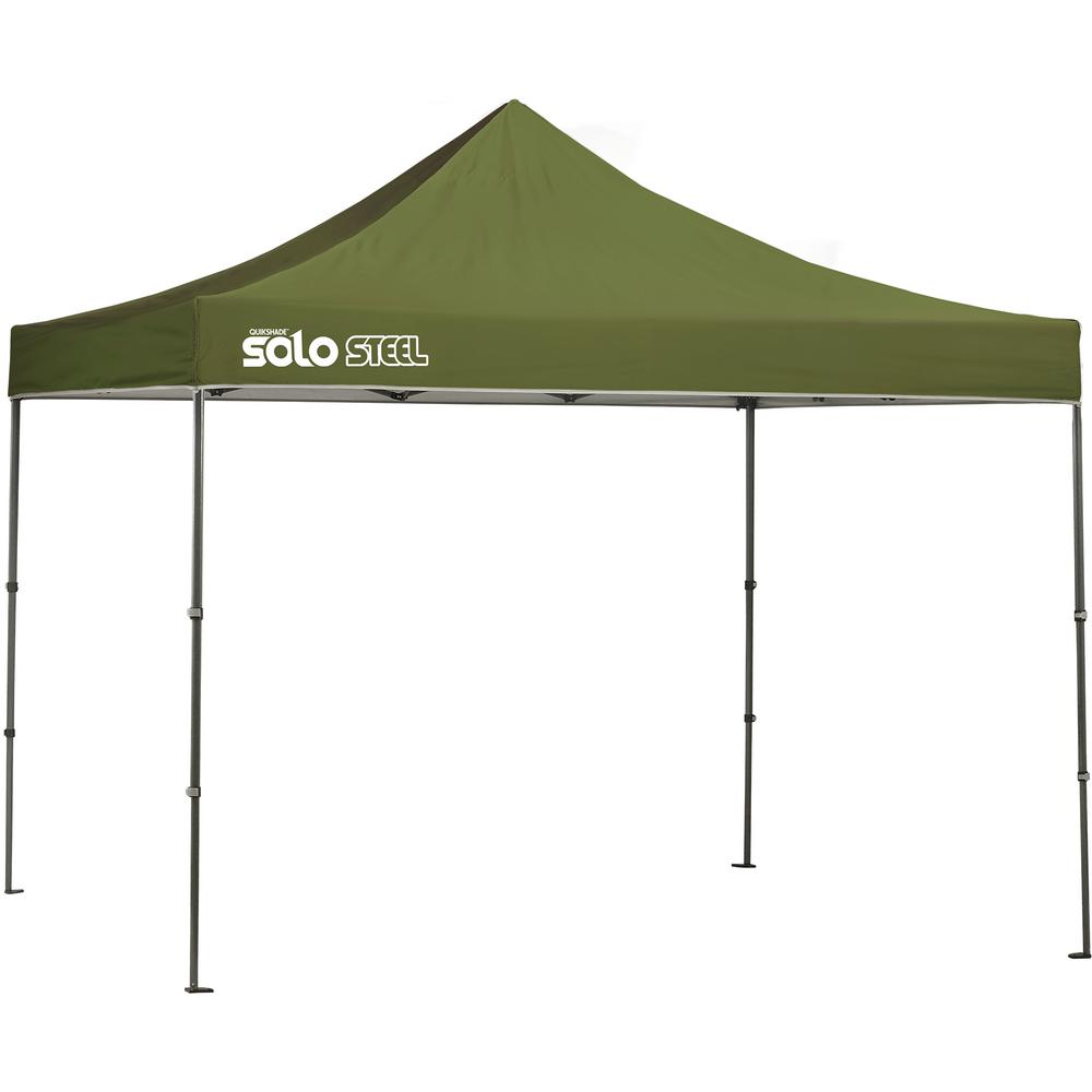 Quik Shade Solo100 10 Ft X 10 Ft Olive Straight Leg